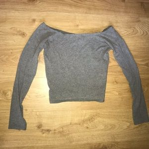 Abercrombie & Fitch grey crop top